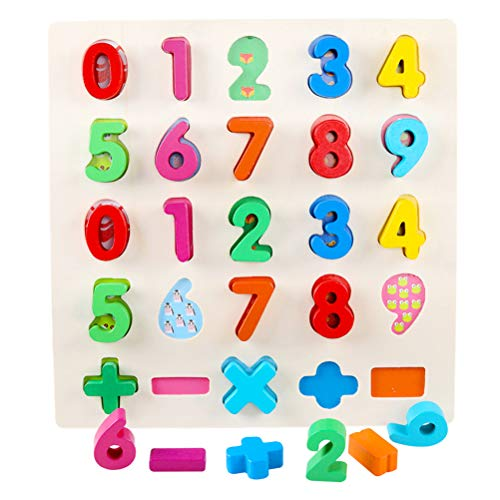 vivioi Wooden Alphabet Number Puzzle Set ABC Puzzle ABC Jigsaws Early Learning Toys Best Game for Children to Learn and Have Fun for Kindergarten and Toddlers-Est Educational Toy Birthday Gift