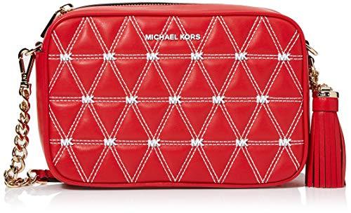 Michael Kors Damen Crossbodies Strandtasche, Bright Red, 22 cm
