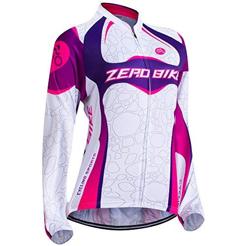 ZEROBIKE® Molleton Thermique d'hiver à Manches Longues Veste Manteau d'hiver de Sport de Femmes