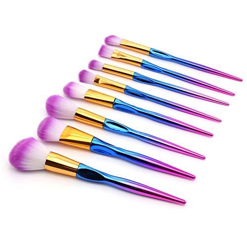 Pinceau De Maquillage 8 Pièces En Nylon Poignée En Plastique Outils De Beauté Des Cheveux De Maquillage Quotidien Brosse Pour Les Débutants Doux Doux Pour La Peau