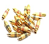 Antrader 20pcs RCA Stereo Male Connector Plug with SpringCoax Audio Solder Adapter