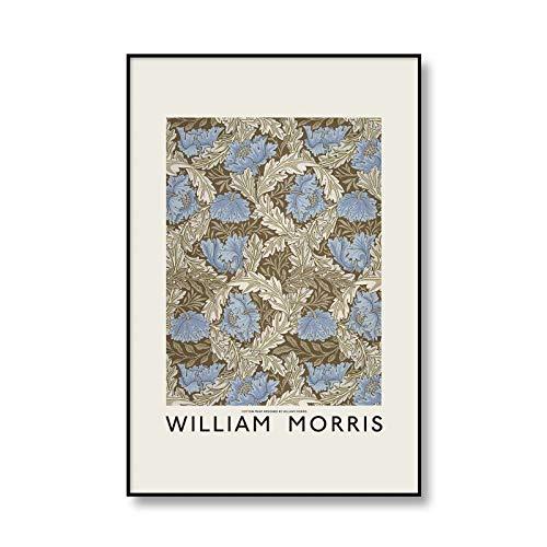 Cartel de flor de fruta Vintage William Morris lienzo pintura sobre ramas de sauce impresión arte de pared lienzo sin marco pintura Q-3 70x100cm