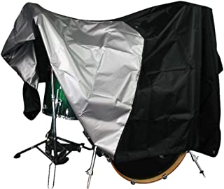 Agustu Drum Set Cover - Premium Black Waterproof 420D...