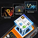 NEXPEAK OBD2 Scanner NX501 Enhanced OBD II Auto Code Reader Car Diagnostic Scan Tool Vehicle Check Engine Light Analyzer… 10 【Professional Vehicle Code Reader】 NEXPEAK NX501 is an enhanced auto scanner that you can NOT ONLY check all engine related fault codes, find out what caused the check engine light comes on, turn-off Malfunction Indicator Lamp (MIL), locate bad O2 sensor, but also can monitor car battery health status, remind you when the battery need to be replaced. It's a perfect scan tool helps you to determine if your car need to be repaired and avoid blind maintenance, saves your time and money. 【Wide Array of Compatibility】 Accurately read and erase error codes on all OBD2 protocol vehicles with a 16 PIN interface (KWP2000, ISO9141, J1850 VPW, J1850 PWM and CAN). The NEXPEAK NX501 is compatible with most US vehicles that are model year 1996 or later – including sedans, SUVs, light trucks, and 12V diesels. This is a plug-and-play engine diagnostic code reader (both generic and manufacturer specific codes) – no extra batteries or apps required. 【NOT ONLY Full OBD2 Function】 All 10 modes OBD2 diagnostic function including: read and erase fault codes, retrieve I/M readiness and freeze frame data. Unique graphical forms to display live sensor data, Auto VIN acquisition, O2 Sensor and EVAP Test (Mode 8), Advanced On-board Monitoring (Mode 6). This auto analyzer can not only reveal what error codes your car is producing, but also monitor the battery voltage at all time during OBD car diagnostic, reminds you when having an aging battery