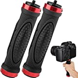 Camera Handle Grip Mount, ChromLives 1/4'' Camera Stabilizer, DSLR Top Handheld Grip with 1/4'' Male Screw for Digital Video Camera Camcorder Action Camera LED Video Light Smartphone 2Pack