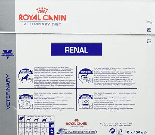 ROYAL CANIN Renal - Nourriture en sachets pour Chiens (10x 150g)