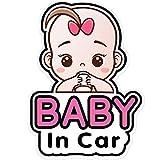 2 Pezzi Segno di Adesivi Baby in Car e Decalcomania per Ragazza, Adesivo per Auto per Bambini, Bacheca Rimovibile con Adesivo di Sicurezza, Adesivo per Finestrino Carino, Adesivi a Bordo