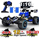 RC Car, NQD 2020 Updated 1/10 Big Scale High Speed Remote Control Buggy, 2.4Ghz Off Road RC Trucks with Two Rechargeable Batteries, Electric Toy Car for 5, 6, 7, 8 Year Old Boy
