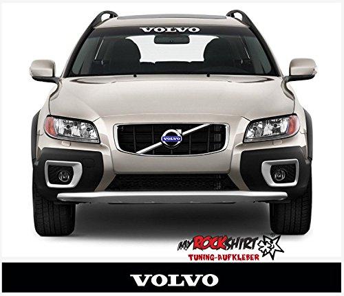 myrockshirt Kompatibel für Volvo + Blendstreifen 130cm Sonnenschutz Scheibe Aufkleber Frontscheibe Aufkleber