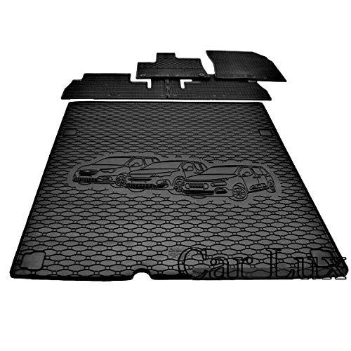 Car Lux AR71174 - Kit conjunto Alfombras Alfombrillas de goma a medida...