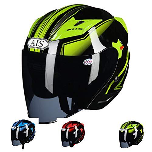 KuaiKeSport Casco Moto Jet Unisexo,Casco Patinete Electrico con Gafas de Doble Protección...