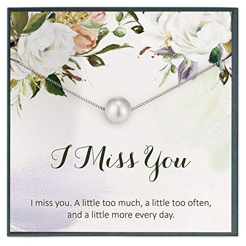 Grace of Pearl Relación de larga distancia regalo de novia I Miss You Ldr regalo para novia I Love You joyería I Miss You tarjeta