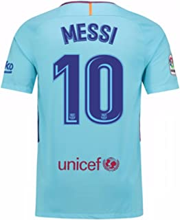 2017-2018 Barcelona Away Football Soccer T-Shirt Jersey (Lionel Messi 10) Size Adult Small