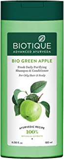 Biotique Bio Green Apple Fresh Daily Purifying Shampoo and Conditioner for Oily Scalp and Hair, 180ml