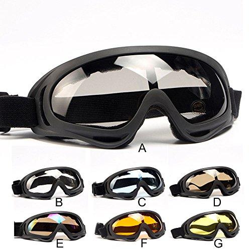 Allegorly Esquí Snowboard Motocicleta Gafas de Sol a Prueba de Polvo Gafas Marco de Lentes Gafas