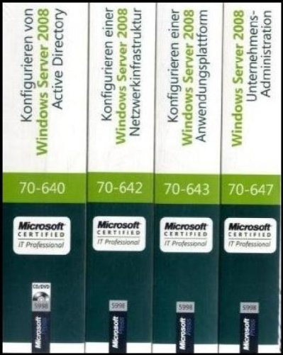 MCITP Windows Server 2008 Enterprise Administrator CorePack - Original Microsoft Training für Examen 70-640, 70-642, 70-643 und 70-647