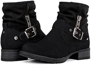 GLOBALWIN Women's Black Winter Fasion Boots 9M