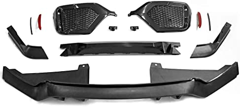 Rear Bumper Coversion Kit Compatible With 2017-2018 Honda Civic Hatchback | Rear Bumper Cover Without Exhaust Tips TR Black PP 10th Gen Air Dam Protection Boykits by IKON MOTORSPORTS