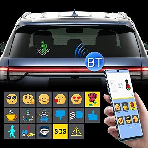 RUNNA Auto Bluetooth Intelligent LED Expression Aufkleber Emoticons APP Manuelle Steuerung Dauerhaft