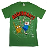 Adventure Time Algebraic Finn and Jake T-Shirt Large Green