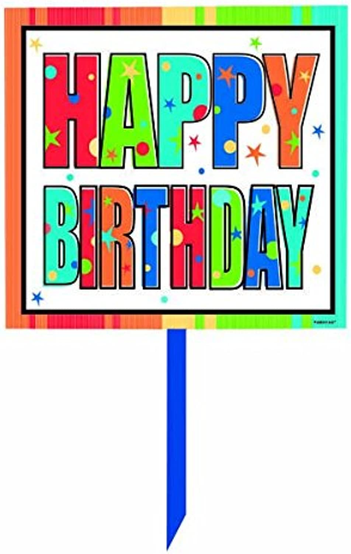 Amscan Happy Birthday Lawn Sign