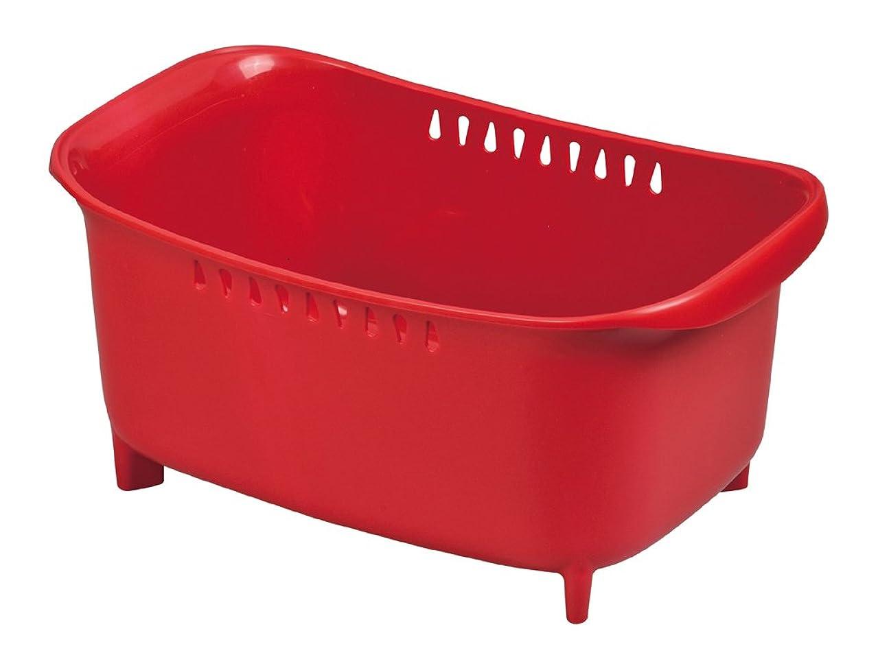 デンマーク仲間、同僚シソーラスパール金属 モデルノ 洗い桶 レッド 【日本製】