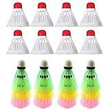 12X Badminton Shuttlecocks Training Exercise Sport Ball Game Birdies Nylon Color