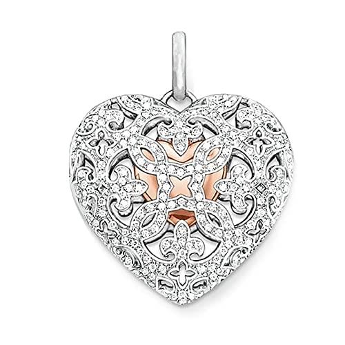 OYZY Amor Corazón Medallón Colgante, 925 Joyería De Plata Esterlina Europa Estilo Collar Accesorios Regalo For Mujer Alma Mujer
