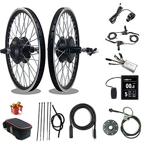 RICETOO Kit de conversión de Bicicleta eléctrica 36V / 48V 250W 16''20'24' 26'27.5' 28'700C Rueda Trasera de Cassette E-Bike Ciclismo Hub Motor con Pantalla KT-LCD8S (36V 250W 700C)