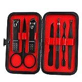 Juego de herramientas de manicura para manicura y pedicura profesional de accesorios cortauñas cortador de lima de cutícula empujador de 7 piezas