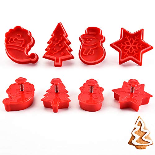 RONSHIN Home 4 Stks Kerstmis Bakvorm voor Cookie Stempel Koekje Fondant Cake Cutter Tool