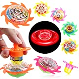 PROLOSO 15 Pcs Spinning Tops Spin Toys Light Up Gyroscope Party Favors for Kids