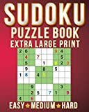 Games For 1 Person: Sudoku Extra Large Print Size One Puzzle Per Page (8x10inch) of Easy,Medium Hard Brain Games Activity Puzzles Paperback Books with  for Men/Women & Adults/Senior