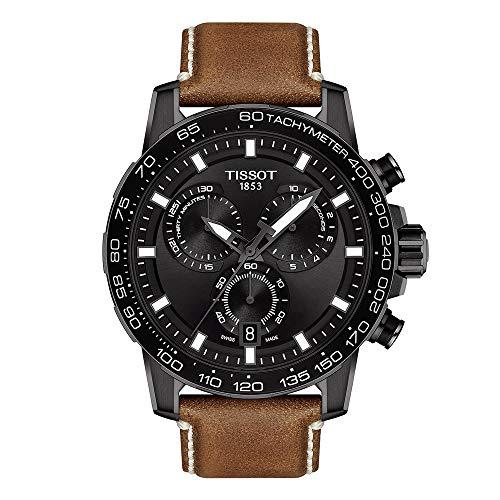 Tissot mens Supersport Stainless Steel Sport Watch Brown T1256173605101