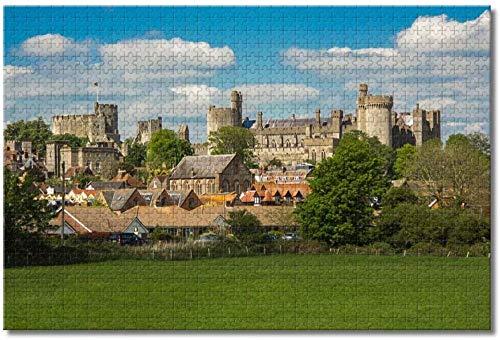 LFNSTXT UK England Arundel Castle Puzzle für Erwachsene Kinder 500 Teile Holzpuzzle Spiel für Geschenke Heimdekoration besondere Reise-Souvenirs