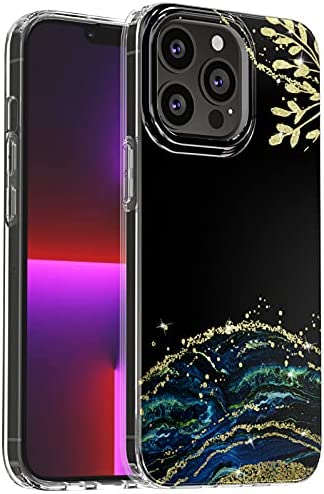 """Read more about the article Compatible with iPhone 13 Pro Max Case Flowers Clear Floral Pattern [Shock-Absorption] Double Protective Hard Back with Soft Silicone Bumper Shockproof Cover Case for iPhone 13 Pro Max 6.7""""-12"""