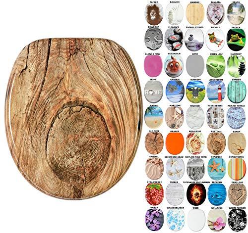 WC Sitz, viele schöne WC Sitze zur Auswahl, hochwertige und stabile Qualität aus Holz (Rustikal)