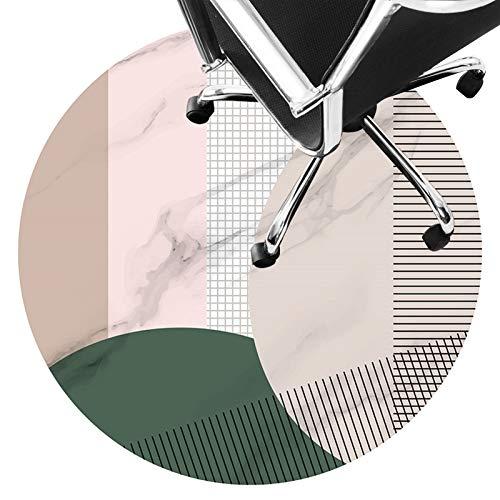 stuhlmatte Bodenmatte Für Bürostuhl, Low Pile Carpet, rutschfeste Stuhlmatte, Silent Bodenschutzmatte Für Holzböden, Keramikfliesen, Laminat(Size:80cm/31in,Color:EIN)