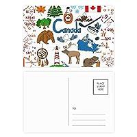 ブラックスキー冬のスポーツのパターン 公式ポストカードセットサンクスカード郵送側20個
