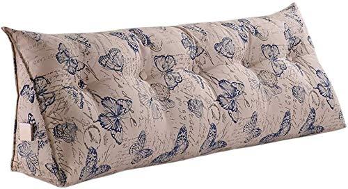YLCJ Creative Light- Driehoek Kussen Dubbel nachtkastje Sofa Hoofdsteun Rugleuning Bed Breed Relaxing nachtkastje (Kleur: P, Afmetingen: 150 * 50 * 25 cm)