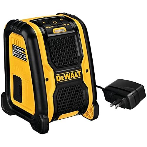 Dewalt DCR006-XJ DCR006 XR Bluetooth Speaker 10.8-18 Volt Li-Ion Bare Unit, 10.8 V
