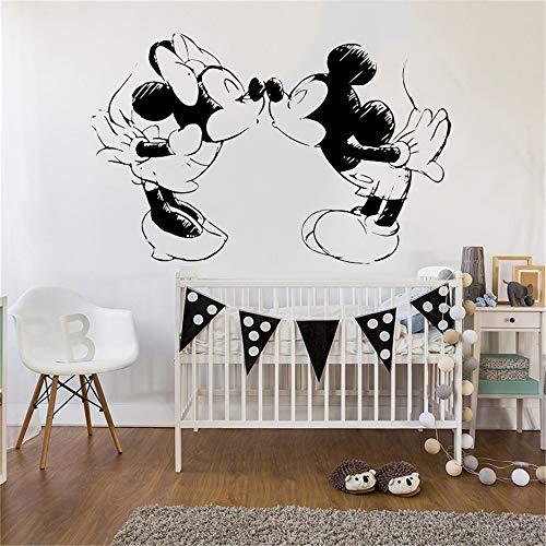 Minnie Mouse autocollant mural Embrasser Minnie Mickey Mouse Chambre D'enfants Pépinière Décor Sketch Dessin Modèle Minnie Mouse Art