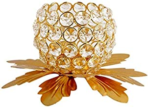 Hashcart Diamond Ball Tealight/Candle Holder with Flower Shaped Base