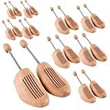 Jago Wooden Shoe Tree Set of 10 Stretcher Shaper in Different Sizes (44-45)