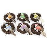 Meipai Juego de 6 nidos artificiales de...