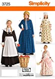 Simplicity Historical Dresses Sewing Pattern Costumes for Girls by Andrea Schewe, Sizes 3-4-5-6