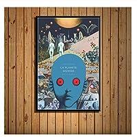 Suuyar ファンタスティックプラネットラプラネットソバージュSf映画ポスターとプリント壁画のキャンバス絵画写真家の装飾-20X28インチフレームなし