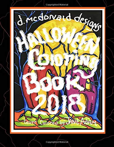 D. McDonald Designs Halloween Coloring Book 2018