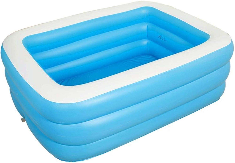 Inflatable Bathtub, Folding Tub Adult Bathing Pool Rectangular - bluee (Size   145cm108cm47cm)