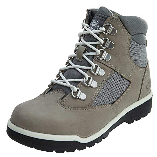 Timberland 6 Inch Little Kids Field Boots Grey Nubuck tb0a1hv4 (1.5 M US)
